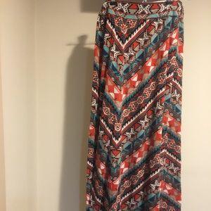 Women's Aztec Print Maxi Skirt